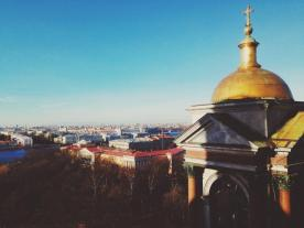 View of St. Petersburg from the top of St. Isaac's Cathedral