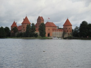 Trakai Castle, a historic sight in Lithuania.