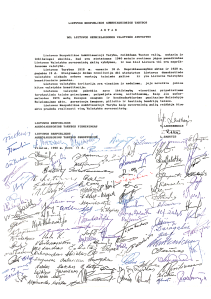 Act declaring Lithuania an independent nation.